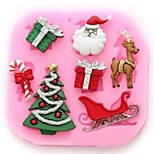 Christmas Tree Deer Claus Gift Fondant Cake Tools