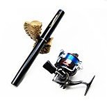 Meiyu ® Pocket Pen Carbon Fishing Rod Pole Reel Combos With Reel hook keeper 40m lines and lures H5