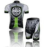 WEST BIKING® Skull Short Sleeve Mountain Bike Clothing Suit Bicyle MTB Cycling Shorts Jersey Set For Men