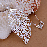 Charming Silver Leaf  Shape Women's Pendents