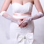 Elbow Length Fingerless Glove Silk/Elastic Satin Bridal Gloves/Party/ Evening Gloves