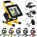 wasserdicht 20w 2000lm 2800K warm-weißes Licht tragbare Notfall wiederaufladbare LED-Flutlampe (ac100-240v)