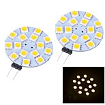 G4 W 15 SMD 5050 150~170 LM Warm White/Cool White Bi-pin Lights DC 12 V