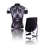 WEST BIKING® Wolf Ghost Summer Short Sleeve Mountain Bike Clothing Suit Bicyle MTB Cycling Shorts Jersey Set For Men
