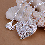 Charming Silver Heart  Shape Women's Pendents