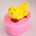 perro herramientas de decoración de fondant pastel de chocolate de silicona torta del molde, l5.4cm * w4.3cm * h3cm