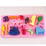 Orchestral Notes Fondant Cake Chocolate Silicone Mold Cake Decoration Tools,L11.5cm*W5.7cm*H0.9cm