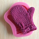 gants noël fondant gâteau chocolat outils silicone moule à cake de décoration, l9cm * w9cm * h1.5cm