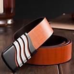 Men Waist Belt/Wide Belt , Vintage/Party/Work/Casual Alloy/Platinum Plated/Leather