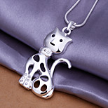 Charming Silver Smile LittleCat Shape Women's Pendents