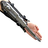 Weapon / Sword Inspired by Cosplay Cosplay Anime/ Video Games Cosplay Accessories Gauntlets / Sword Black Alloy / Leather Male