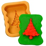 Christmas Tree Fondant Cake Chocolate Silicone Mold Cake Decoration Tools,L8.3*W6.8*H3cm