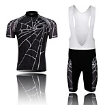WEST BIKING® Spiders Short Sleeve Mountain Bike Clothing Suit Bicyle MTB Cycling Bib Shorts Jersey Set For Men