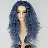 New Movie Into the Woods Witch Long Wavy Blue Grey Anime Cosplay Wig