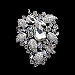Miss Ricy Women's Fashion Rhinestone Silver Plating Wedding/Party Brooches