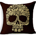 Skeleton Cotton/Linen Decorative Pillow Cover