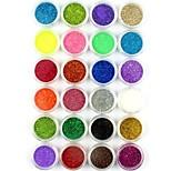 24PCS Small Nail Art Glitter Powder Nail Art Foil Powder Arylic Powder for Nail Decorations