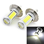 High Power H7/H4/H11/9005 25W 1800lm 5-COB LED Cool White Car Head Light/Foglight(12~24V / 2 PCS)