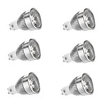 6 pcs GU10 6 W 1 COB 500-550 LM Warm White/Cool White Dimmable Spot Lights AC 220-240/AC 110-130 V