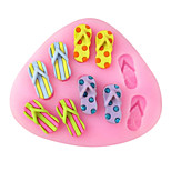 Ten Slippers Baking Fondant Cake Choclate Candy Mold,L8.5cm*W7.3cm*H1cm