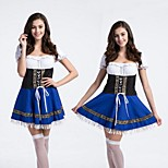 Blue Sweet French Maid Adult Women's  Halloween Costume Dress