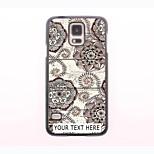 Personalized Phone Case - Retro Flower Design Metal Case for Samsung Galaxy S5 mini