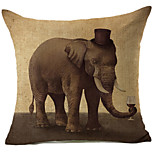 1 pcs Cotton/Linen Pillow Cover,Wildlife Modern/Contemporary