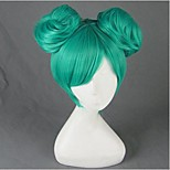 Cosplay Wigs Vocaloid Hatsune Miku Green Short Anime/ Video Games Cosplay Wigs 35 CM Heat Resistant Fiber Female