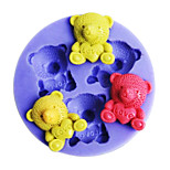 Bear Love Shaped Bake fandant mold,L4.5cm*W4.5m*H0.9cm