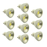 Focos Regulable GU10 4.5 W 1 COB 400-450 LM Blanco Cálido/Blanco Natural/Blanco Fresco AC 100-240/AC 110-130 V 10 piezas