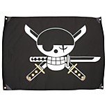 Weapon Inspired by One Piece Roronoa Zoro Anime Cosplay Accessories Weapon Black Polyester Male