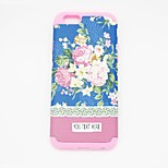 Personlized Phone Case - Blue Flower Sillicone for iPhone 6