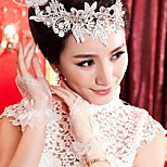 Wrist Length Fingerless Glove Lace Bridal Gloves/Party/ Evening Gloves