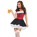 Sweet Beer Girl Red and Black Women's Costume(free size)for Carnival