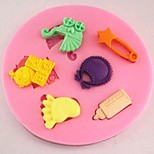 Baby Stroller Feet Bottle Fondant Cake Silicone Mold Cake Decoration Tools,L8cm*W8cm*H1cm