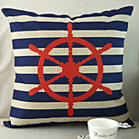 1 pcs Cotton/Linen Pillow Cover,Nautical Beach Style