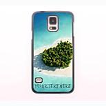 Personalized Phone Case - Heart Sea Design Metal Case for Samsung Galaxy S5 mini
