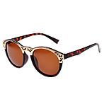 Anti-Reflective Round Alloy Retro Sunglasses