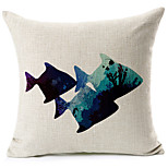 1 pcs Cotton/Linen Pillow Cover,Coastal Beach Style