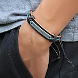 Men's Words  Braided PU Leather Bracelet