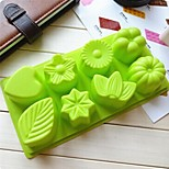 8 Hole Flowers Leaves Shape Cake Mold