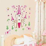 Wall Stickers Wall Decals, Cartoon Disney Princess Castle PVC Wall Stickers
