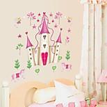 Wall Stickers Wall Decals, Cartoon Disney Princess Castle PVC Wall Stickers