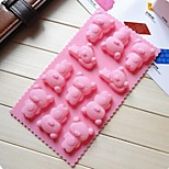 Winnie The Pooh Shape Cake Mold Ice Jelly Chocolate Mold,Silicone 21.7×11.2×1.8 CM(8.6×4.4×0.7 INCH)