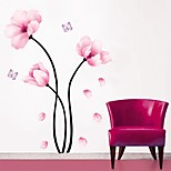Wall Stickers Wall Decals, Simple Pink Flower PVC Wall Stickers