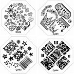 1PC New Nail Stamping Image Plate Fashion Lace Flower Heart Plate for DIY Nail Art Decorations(Assorted Pattern)