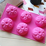 6 Hole 5 Piece Of Flower Cake Mold Ice Jelly Chocolate Mold