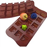 15 Hole Square Shape Cake Ice Jelly Chocolate Molds,Silicone 21×10.5×2.5 CM(8.3×4.1×1.0INCH)