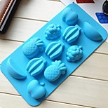11 Hole Fruit Cake Mold Ice Jelly Chocolate Mold,Silicone 20×10.5×16.5 CM(7.9×4.1×6.5 INCH)