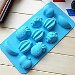 11 buche muffa gelatina muffa torta di frutta gelato al cioccolato, silicone 20 × 10,5 × 16,5 centimetri (7,9 × 4,1 × 6,5 pollici)